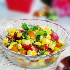 玉米圣女果沙拉的做法