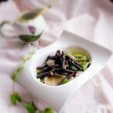 蘑菇紫豇豆沙拉