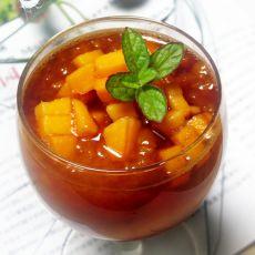 木瓜红酒饮