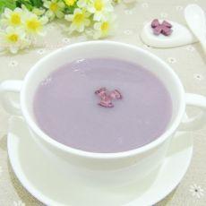 紫薯糯米豆浆