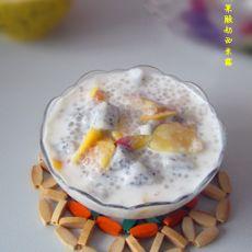 双果酸奶西米露的做法