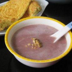 核桃紫薯杂粮米糊的做法