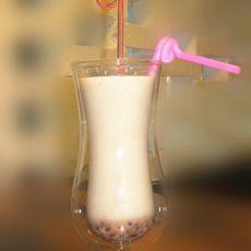 蜜豆奶茶的做法