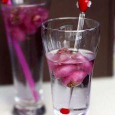 玫瑰冰苏打水