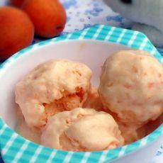 自制甜杏冰激凌