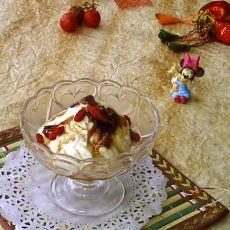 玫瑰牛奶意式冰淇淋