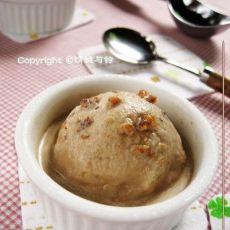 红糖核桃冰淇淋