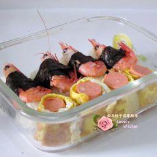 北极虾饭团