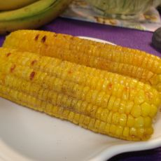 孜然黑椒烤玉米的做法