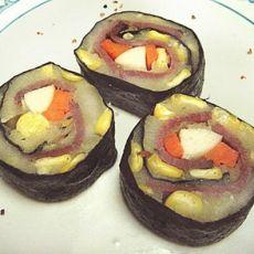 土豆泥肉片寿司卷的做法