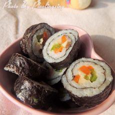 青椒胡萝卜寿司的做法