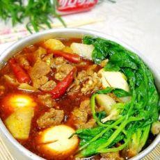 香辣红油牛肉火锅的做法