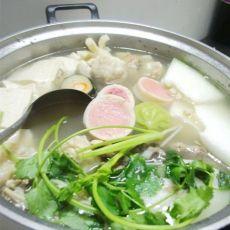 猪筒骨肉丸原味火锅