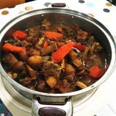 竹蔗红萝卜驴肉煲的做法