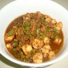 长豆角虾仁肉酱