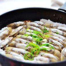 平底锅版盐焗蛏的做法
