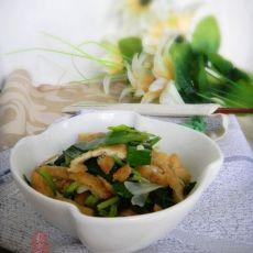 芹蒜炒油豆腐丝