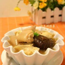 香菇炖猪脚汤的做法