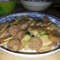 牛肉丸炒杏鲍菇