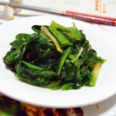 韭菜炒油麦菜的做法