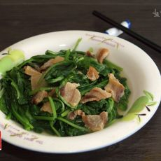 春菜炒猪油渣