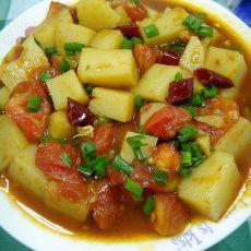 番茄炒凉粉的做法