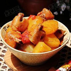 番茄土豆炖鸡小肘