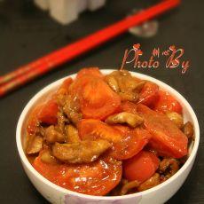 鸡腿肉炒番茄的做法