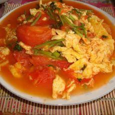 芫香西红柿炒鸡蛋的做法