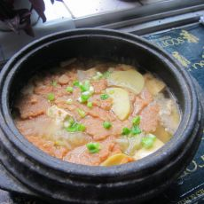 锅巴酱汤的做法