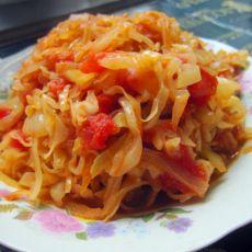 西红柿炒大头菜的做法
