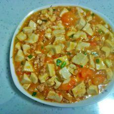 番茄肉末烧豆腐