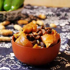 黑豆炖猪蹄的做法