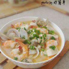 鲜虾海贝炖豆腐