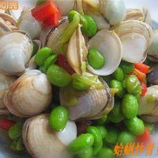 蛤蜊炒青豆