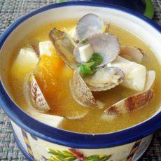 蛤蜊豆腐南瓜浓汤