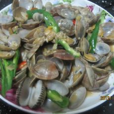 青椒炒蛤蜊