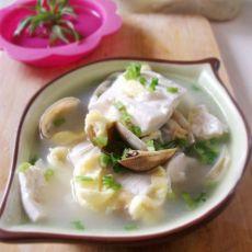 蛤蜊豆腐蛋丝汤