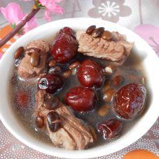 红枣黑豆排骨汤