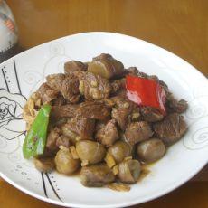 板栗炖牛肉