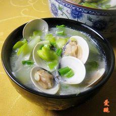 老黄瓜豆瓣蛤蜊汤的做法