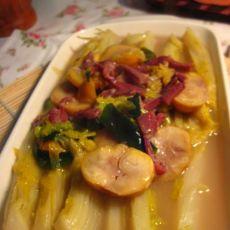 栗子火腿娃娃菜