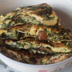 板栗紫菜虾皮蛋饼