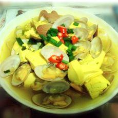 咖喱蛤蜊豆腐的做法