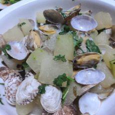 冬瓜炒蛤蜊的做法