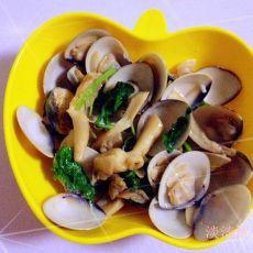 平菇炒蛤蜊