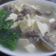 蛤蜊豆腐肉丸汤