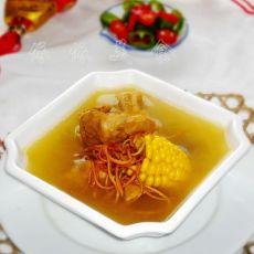 虫草花玉米脊骨汤的做法