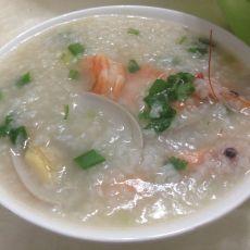 瑶柱鲜虾牡蛎粥