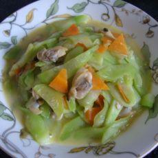鲜蛤蜊肉炒黄瓜的做法